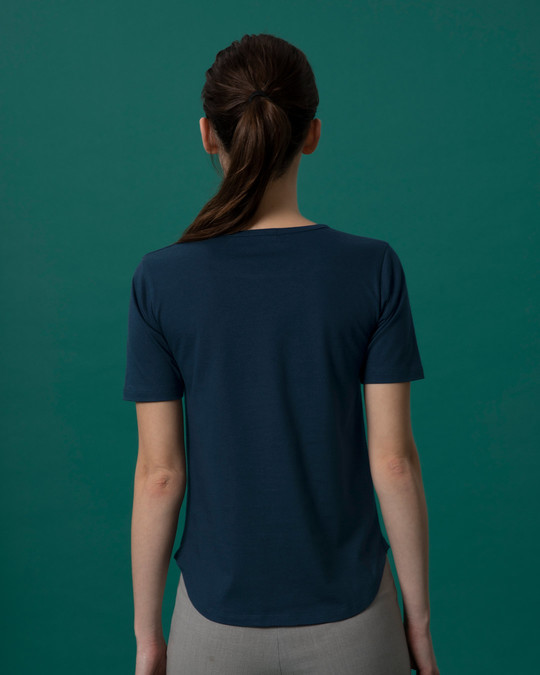 Shop Awesome Simply Basic Round Hem T-Shirt-Full