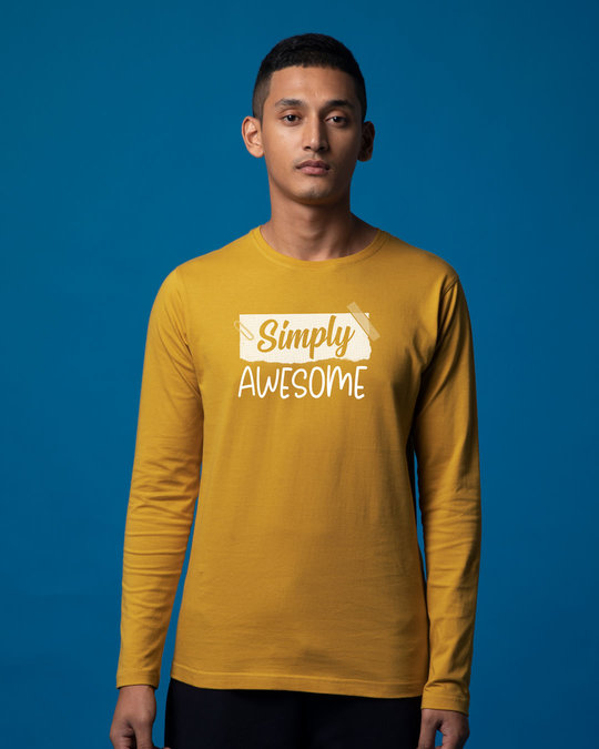 Shop Awesome Simply Full Sleeve T-Shirt-Front