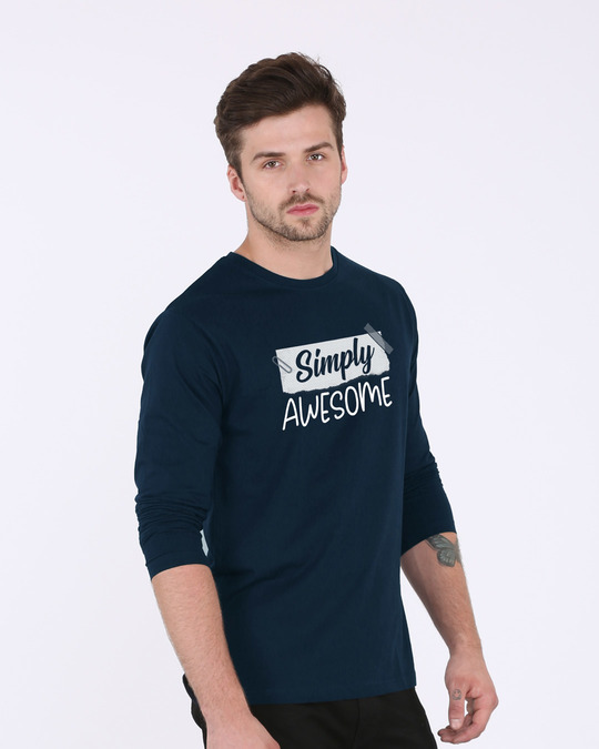Shop Awesome Simply Full Sleeve T-Shirt-Back