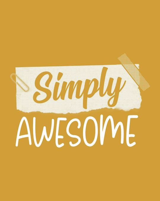 Shop Awesome Simply Half Sleeve T-Shirt