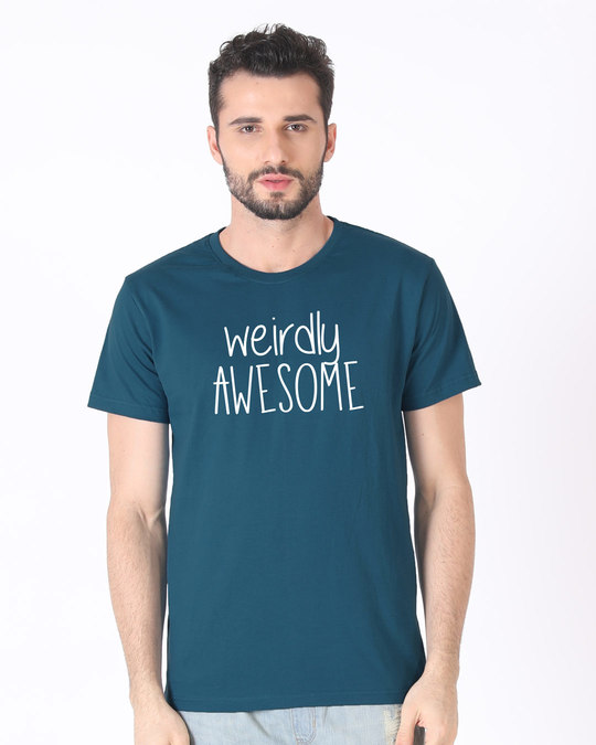 Shop Awesomely Weird Half Sleeve T-Shirt-Back