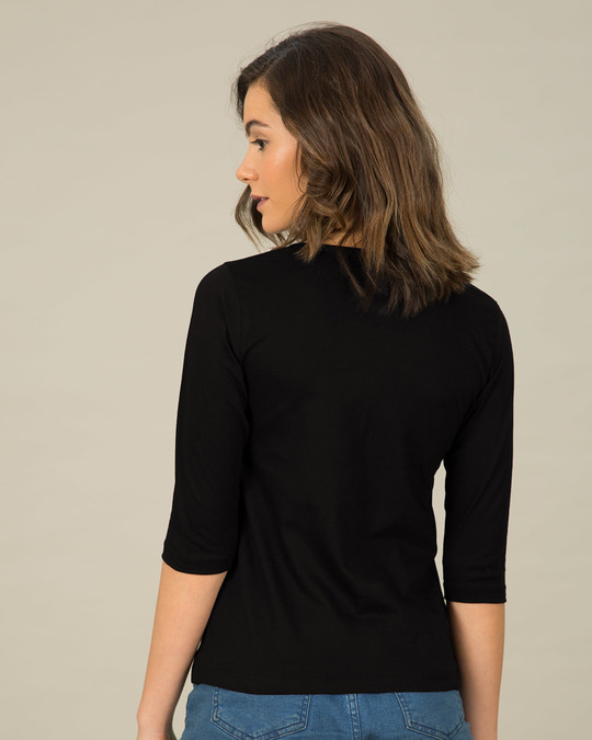 Shop Azaadi Round Neck 3/4th Sleeve T-Shirt-Back