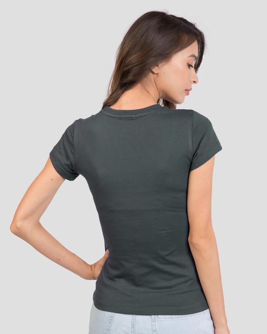 Shop Azadi Birth Right Half Sleeve T-Shirt - Nimbus Grey-Back