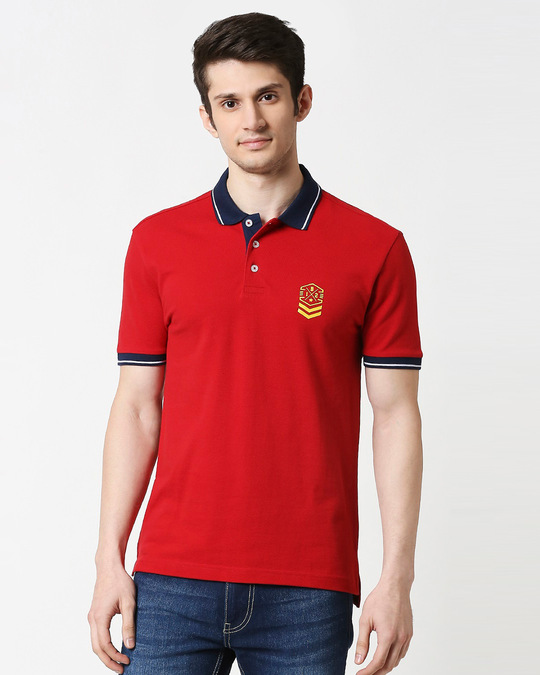 Shop B12 Chili Pepper Half Sleeve Tipping polo-Back
