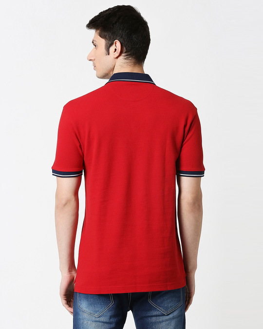 Shop B12 Chili Pepper Half Sleeve Tipping polo-Full