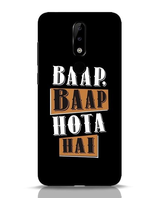 Shop Baap Baap Hota Hai Nokia 5.1 Plus Mobile Cover-Front