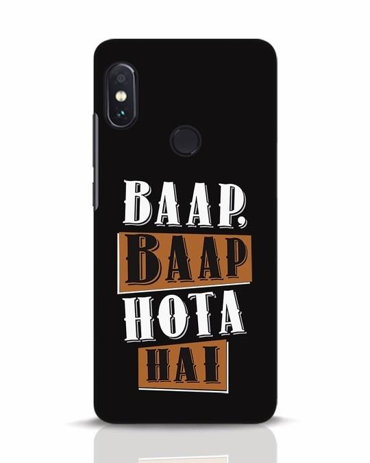 Shop Baap Baap Hota Hai Xiaomi Redmi Note 5 Pro Mobile Cover-Front