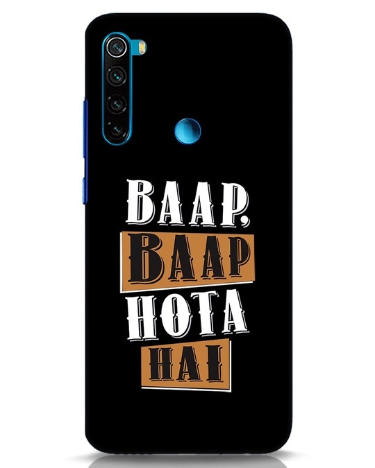 Shop Baap Baap Hota Hai Xiaomi Redmi Note 8 Mobile Cover-Front