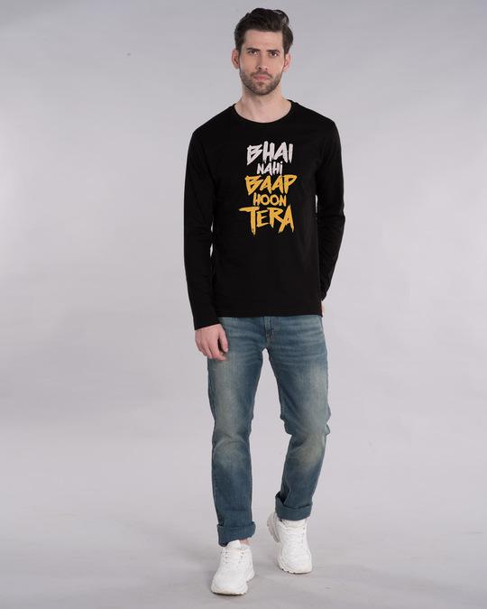 Shop Baap Hoon Tera Full Sleeve T-Shirt-Design