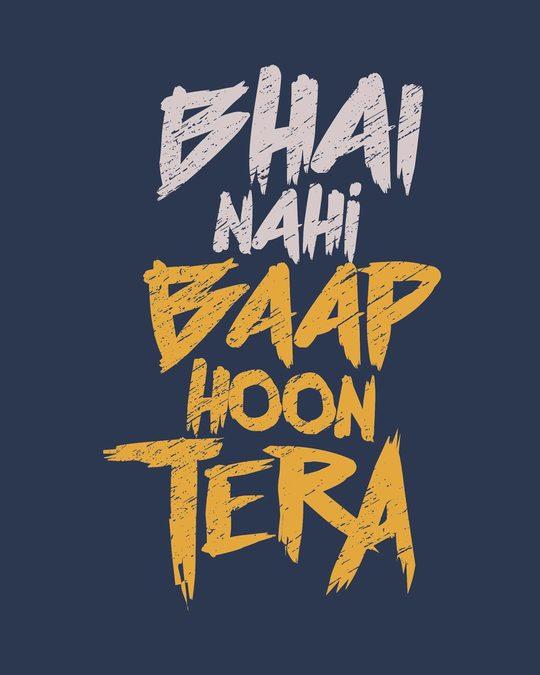 Shop Baap Hoon Tera Full Sleeve T-Shirt-Full
