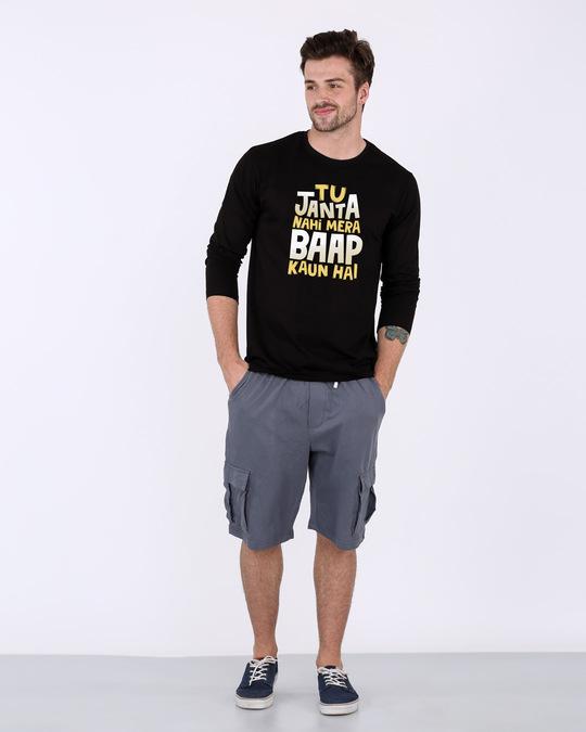 Shop Baap Kaun Hai Full Sleeve T-Shirt-Full