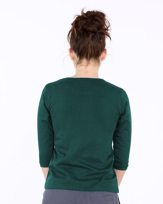 Shop Baap Ko Mat Sikha Round Neck 3/4th Sleeve T-Shirt-Back