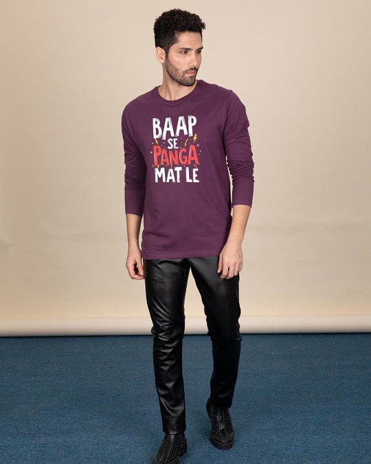 Shop Baap Se Panga Mat Le Full Sleeve T-Shirt-Full