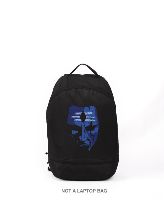 Shop Baba Blue Small Backpack-Front
