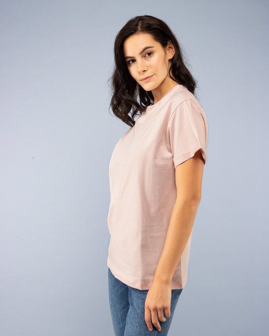 Shop Baby Pink Boyfriend T-Shirt-Back