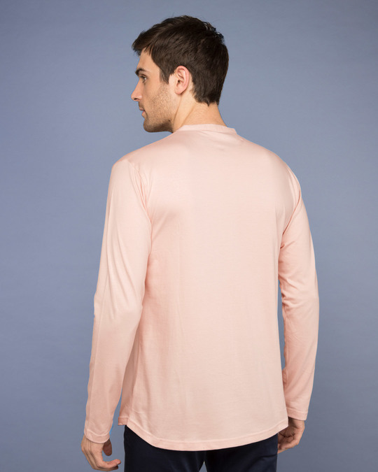Shop Baby Pink Full Sleeve Henley T-Shirt-Design