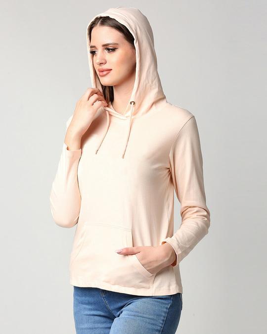 Shop Baby Pink Full Sleeve Hoodie T-Shirt-Design