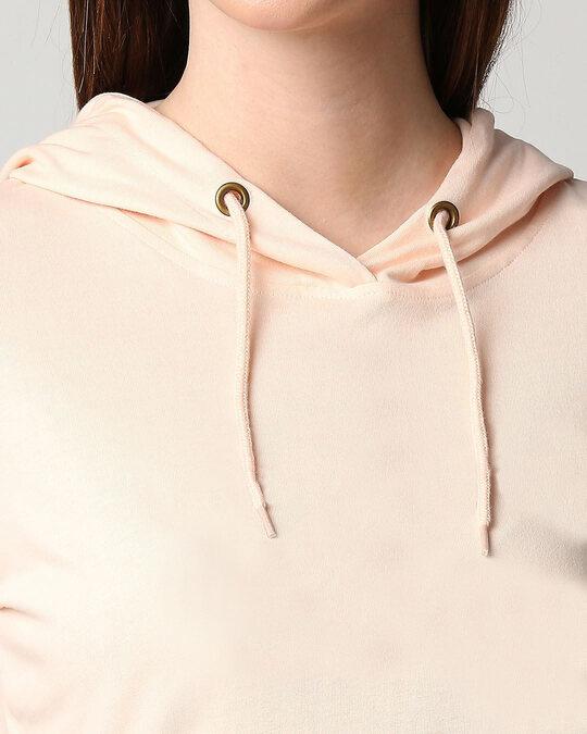 Shop Baby Pink Full Sleeve Hoodie T-Shirt