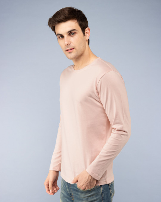 Shop Baby Pink Full Sleeve T-Shirt-Back