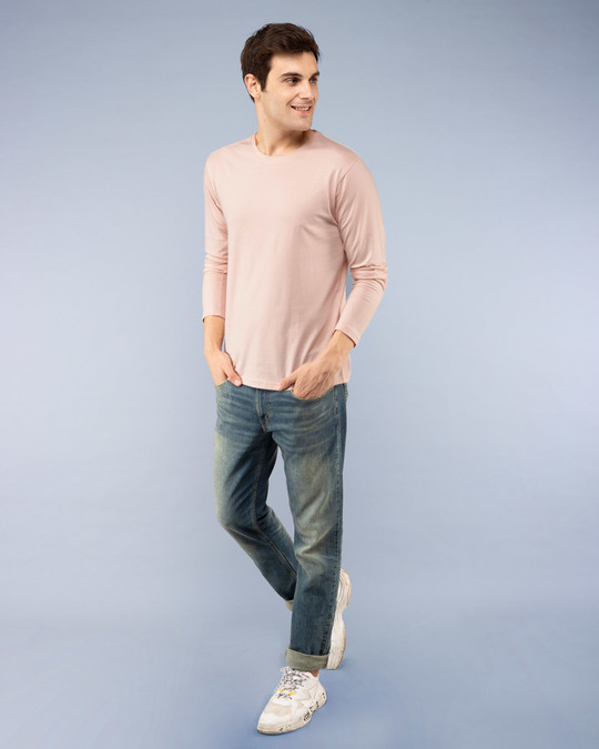 Shop Baby Pink Full Sleeve T-Shirt