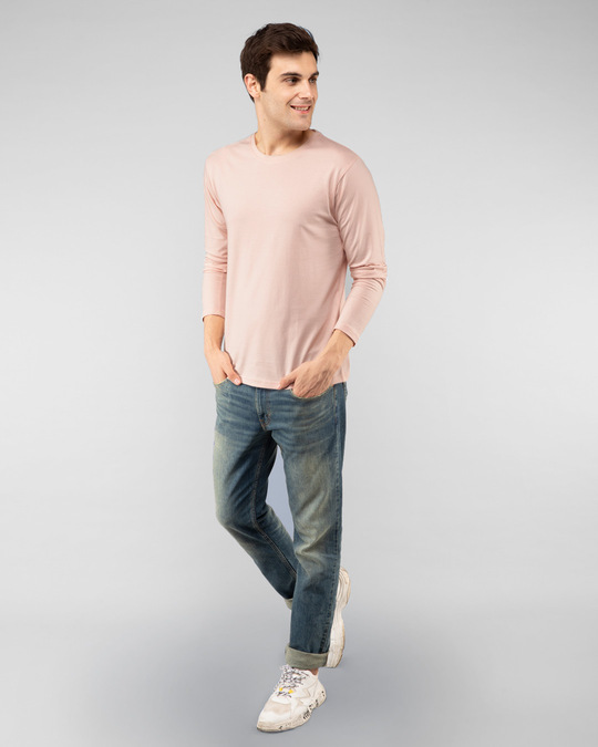 Shop Baby Pink Full Sleeve T-Shirt-Full