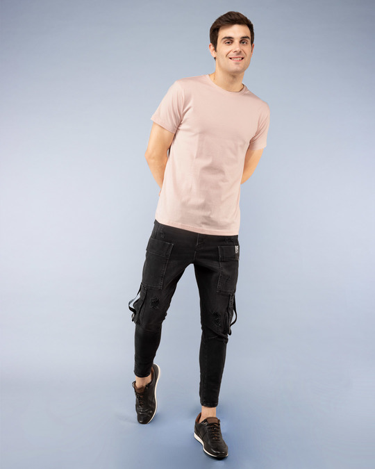 Shop Baby Pink Half Sleeve T-Shirt-Full