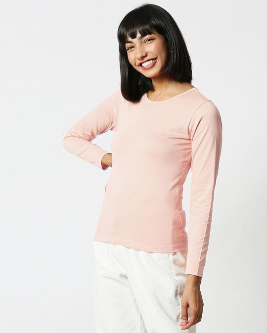 Shop Baby Pink Women's Full Sleeves T-Shirt-Design