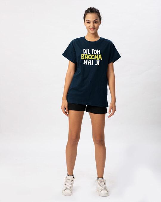 Shop Bachcha Dil Boyfriend T-Shirt-Full