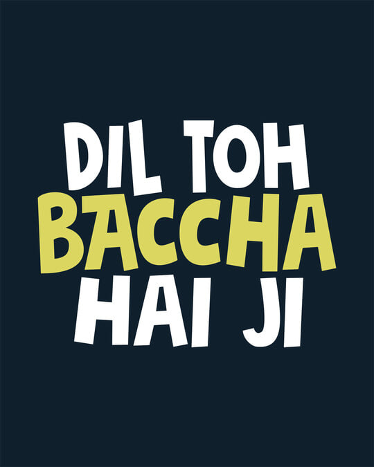 Shop Bachcha Dil Boyfriend T-Shirt