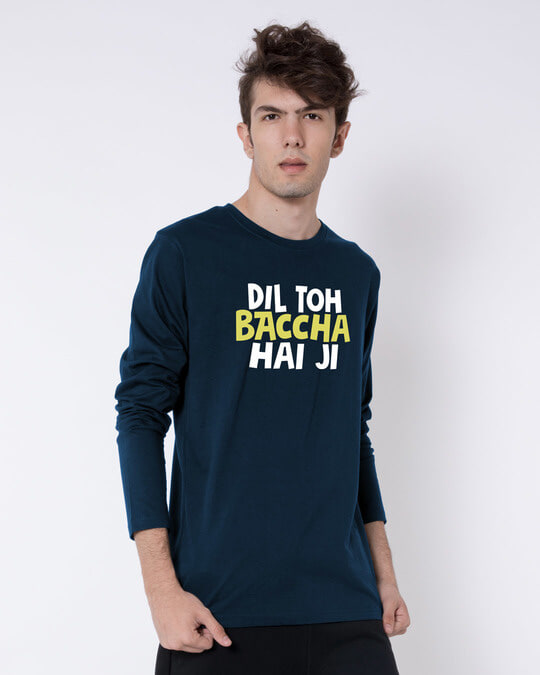 Shop Bachcha Dil Full Sleeve T-Shirt-Back