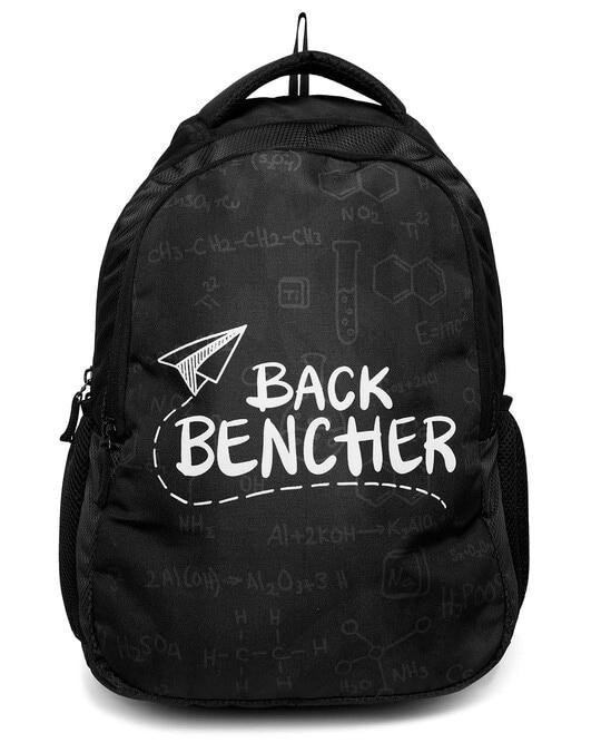 Shop Back Bencher Doodle Printed 23 Litre Backpack-Front