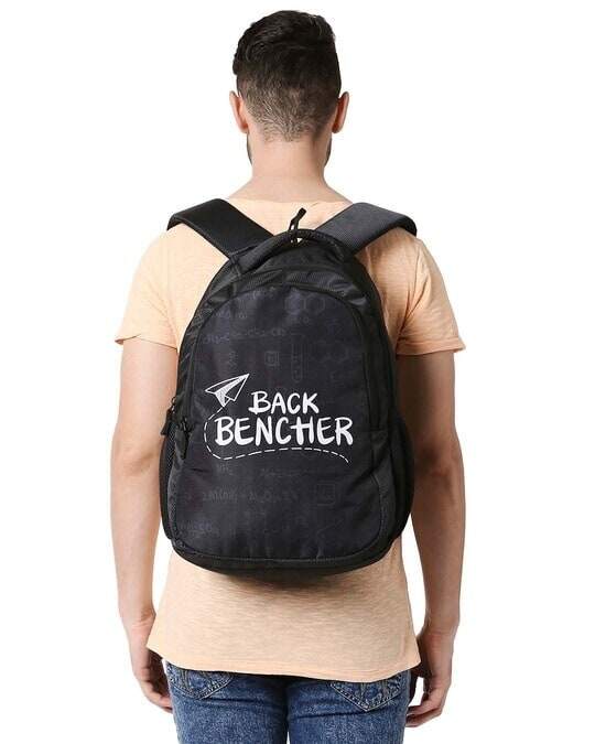 Shop Back Bencher Doodle Printed 23 Litre Backpack-Full