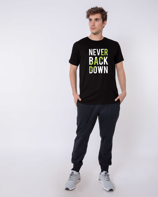 Shop Back Down Never Half Sleeve T-Shirt