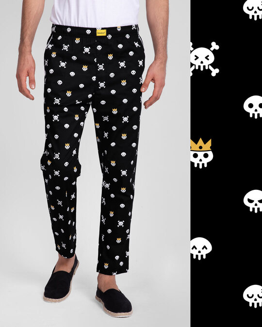 Shop Back To Skull All Over Printed Pyjama-Front