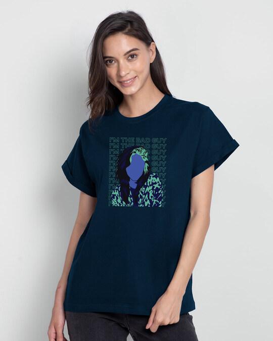 Shop Bad Billie Boyfriend T-Shirt-Back