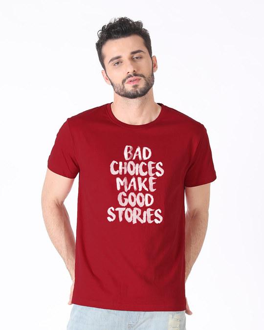 Shop Bad Choices Half Sleeve T-Shirt-Back