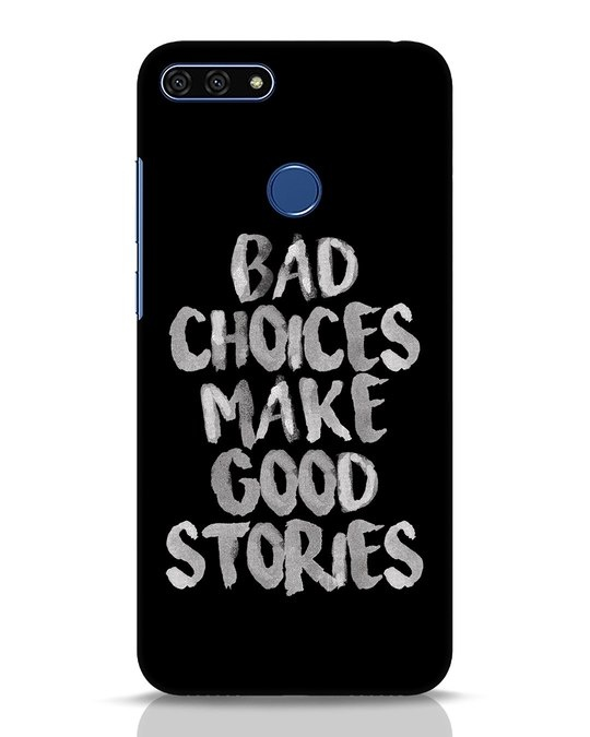 Shop Bad Choices Huawei Honor 7A Mobile Cover-Front