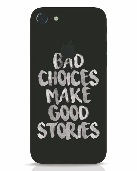 Shop Bad Choices iPhone 7 Logo Cut Mobile Cover-Front