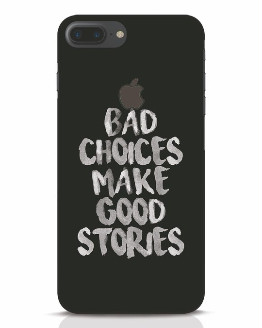 Shop Bad Choices iPhone 7 Plus Logo Cut Mobile Cover-Front