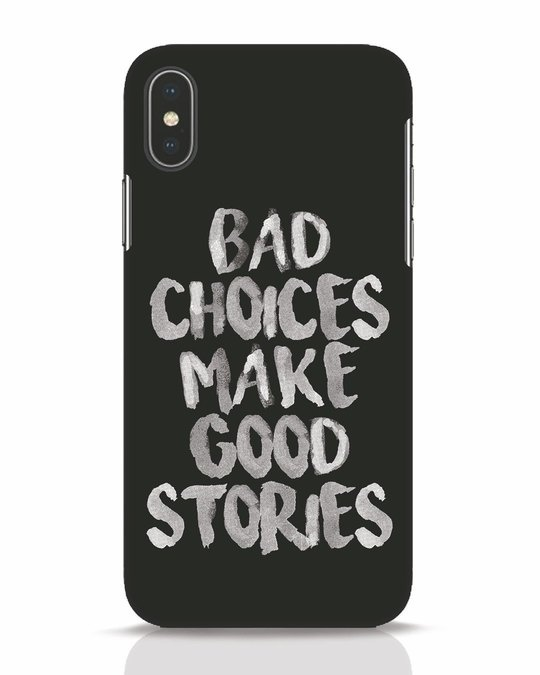 Shop Bad Choices iPhone X Mobile Cover-Front