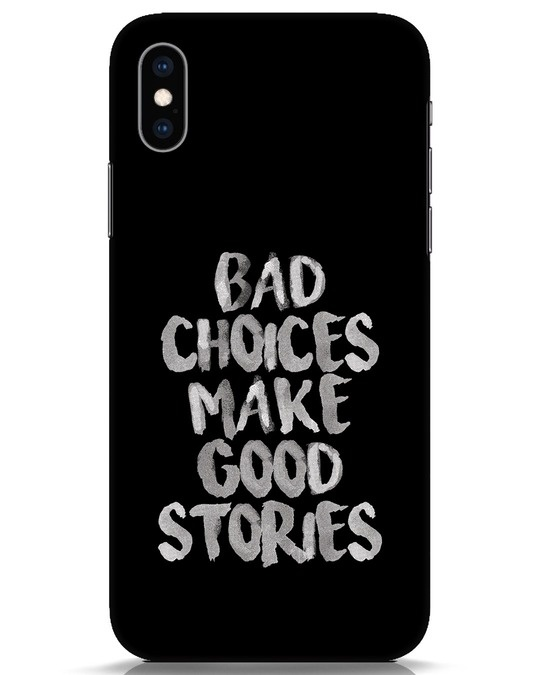 Shop Bad Choices iPhone XS Mobile Cover-Front