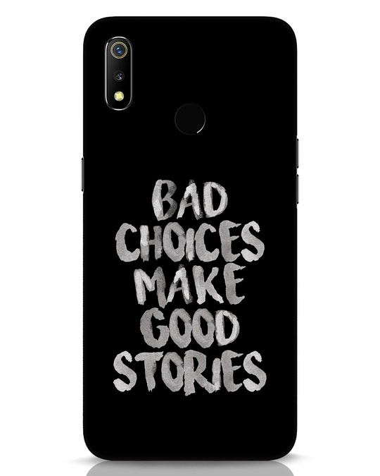 Shop Bad Choices Realme 3 Mobile Cover-Front