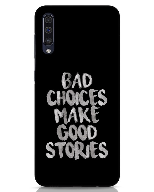 Shop Bad Choices Samsung Galaxy A50 Mobile Cover-Front