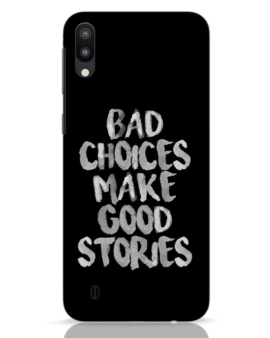 Shop Bad Choices Samsung Galaxy M10 Mobile Cover-Front