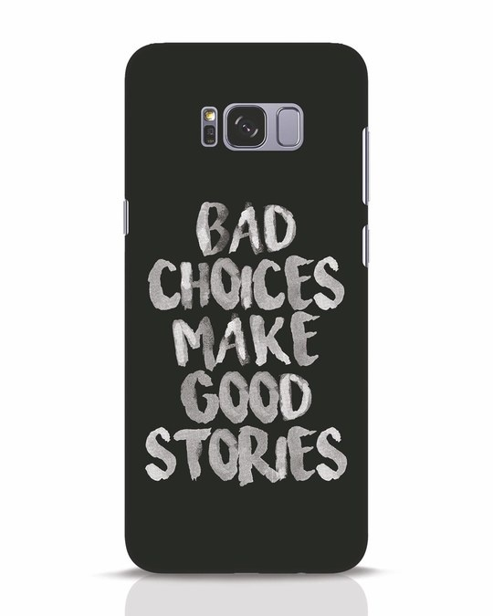 Shop Bad Choices Samsung Galaxy S8 Plus Mobile Cover-Front