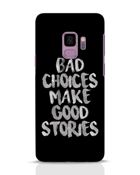 Shop Bad Choices Samsung Galaxy S9 Mobile Cover-Front