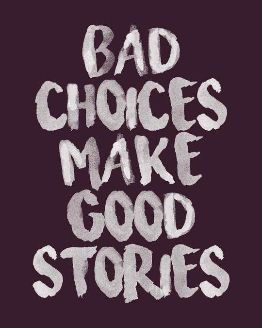 Shop Bad Choices Fleece Light Sweatshirt