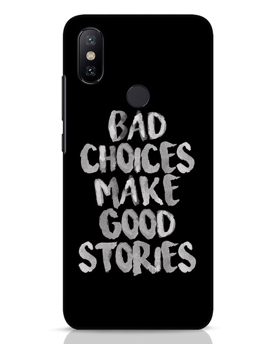 Shop Bad Choices Xiaomi Mi A2 Mobile Cover-Front