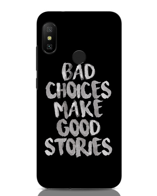 Shop Bad Choices Xiaomi Redmi Note 6 Pro Mobile Cover-Front