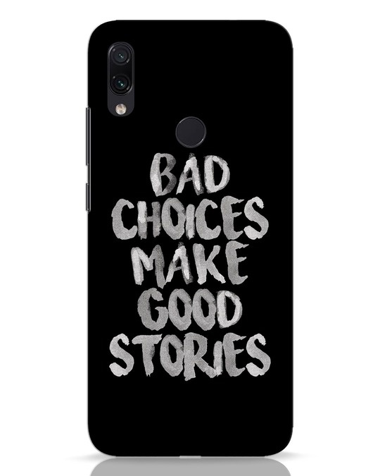 Shop Bad Choices Xiaomi Redmi Note 7 Mobile Cover-Front